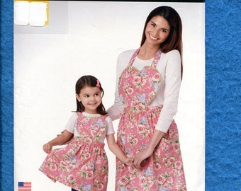 Simplicity 1272 Heart Shaped Bib Apron Moms & Little Girls  Size S to L UNCUT