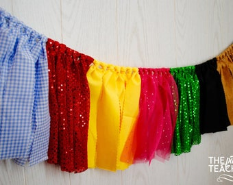 Wizard of Oz Fabric Bunting - FREE Shipping - Wizard of Oz Garland - Wizard of Oz Bunting - Wizard of Oz Party - Wizard of Oz Decor