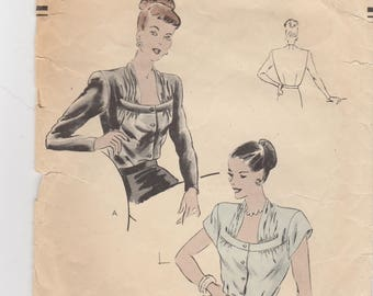 Stunning 1940s Blouse Pattern Vogue 5918 Size 12