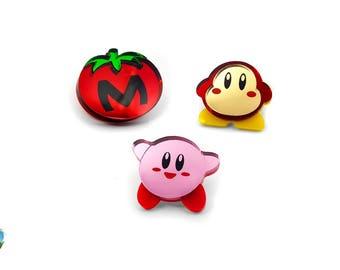 Kirby Character Pins - Laser Cut