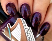 awesome. wow. (mini size & full size)- Purple crelly multichrome flakie indie polish by Fedoraharp Lacquer