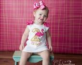 Flamingo dress, flamingo birthday shirt, flamingo dress flamingo outfit, flamingo birthday, flamingo party, first birthday, flamingo bow UD