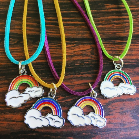Rainbow Charm Necklace, free shipping!