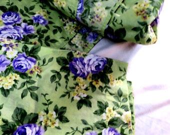 SHEET SET ... 3 pc Twin  set Flat sheet, Fitted sheet, Pillow case Green w Lavender