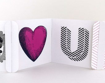Unique Greeting Card - Valentines Day / Love Greeting Card - Eye Heart U - CARDzees™ Greeting cards with a unique approach