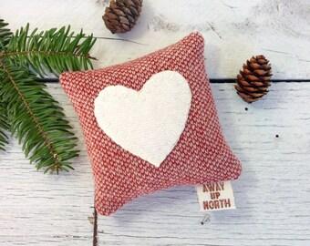 Valentine Decor, Heart Pillow, Valentine Pillow, Valentine Gift, Rustic Heart Pillow, Wedding Gift, Gift for Her, Small Pillow,BalsamPillow