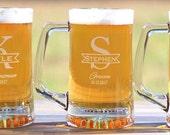 Personalized Groomsmen Beer Mugs Engraved Be My Best Man Be My Groomsman Glasses Beer Mugs ANY QUANTITY 25oz Beer Mug