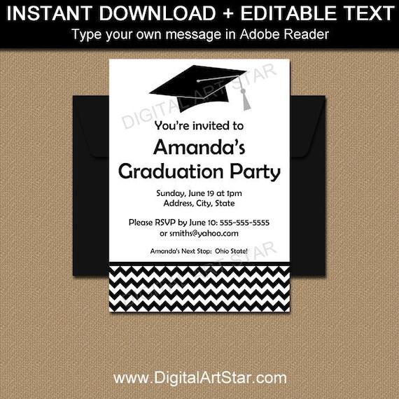 Black and white graduation announcement template boy graduation il570xn filmwisefo Choice Image