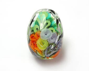 Lampwork Glass Sea Garden Focal Bead