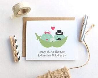 Congrats to the New Edamame & Edapape - Baby Card