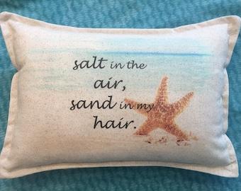 Coastal pillow, 12x18, ocean ,beach house decor, nautical, beach
