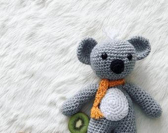 Kiwi the Koala, Crochet Koala Bear, Stuffed Animal, Koala Bear Amigurumi, Plush Animal, Made to Order