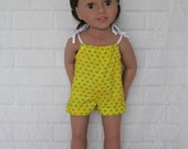 "Bomper Yellow Romper - Dolls Clothes for Australian Girl & 18"" dolls"