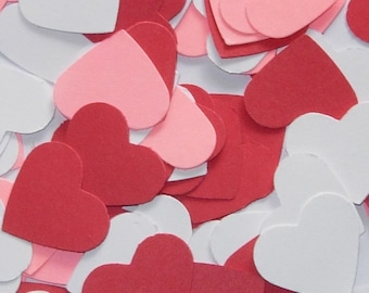Confetti | Table Scatter | Red-Pink-White Hearts Mix | Valentines Day | Romantic | Wedding | 150 pieces | One inch