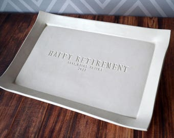 Retirement Gift or Signature Guestbook Platter - Large Personalized Platter - Gift boxed