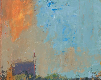 Summer's Edge ~ Original Contemporary Abstract Western Landscape Painting