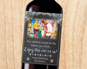 Teacher Wine label gift PRINTABLE christmas gift our children might be the reason you drink nanny babysitter holiday present multiple kids