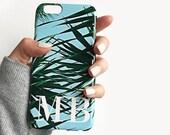 Monogram tropical palm leaf print phone case - iPhone 7 Plus, Samsung Galaxy S8, iPhone 8/8 Plus, Samsung Galaxy S7 Edge, Samsung Galaxy S7