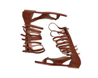 CASABLANCA. Gladtiator sandals / strappy sandals / leather sandals women / gladiator boots. sizes 35-43. Available in different colors.
