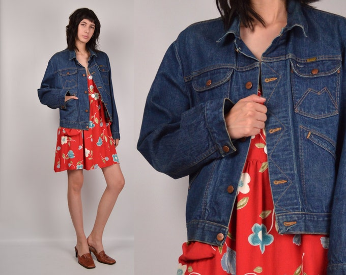 70's Denim Jacket button down blue jean