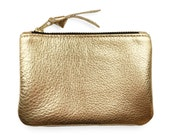 Gold coin purse, change purse, leather coin purse
