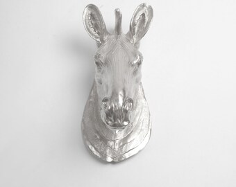 The Stripes - Faux Taxidermy Zebra Head Wall Mount by White Faux Taxidermy - Chic Zebra Decor & Hanging Wall Art