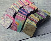 Mini square envelopes pack of 50-  assorted prints and patterns - 2.25 inch