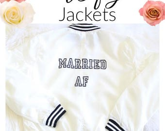 Bridal Shower Gift Ideas Bridal Wear Bride Zip up, Wifey Shirts,  Bride to be Bridal Jackets, Just Married Mrs Shirt, Wifey Material