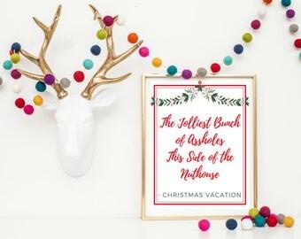 Christmas Wall Art Printable - Christmas Vacation Movie Printable - Christmas Printable - Christmas Vacation Movie Quote - Christmas Movie