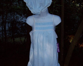 Vintage Jennifer Dale Junior Baby Blue & White  Baby Doll Nitie and Panties NWT circa 1960s