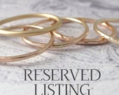 RESERVED FOR HANNAH - 18ct Rose Gold Wishbone