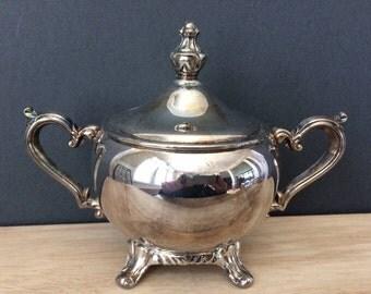 vintage silver sugar bowl