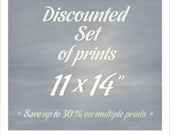 11x14 print set, Gallery wall art pictures, 11x14 Photography fine art print, living room decor, artwork home decor, metallic print, poster