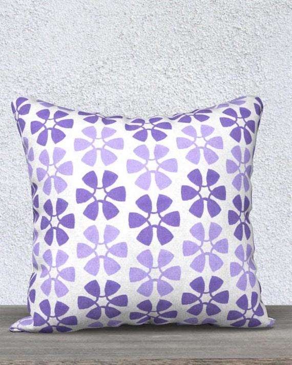 Purple Girls Pillow with Pinwheel Pattern