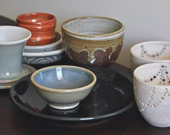 Sale! Handmade Ceramic Cup, Mug, Bowl, Mini bowls, Plate, or Luminary. Small package of Ceramics & Pottery by Naomi Anita. In stock!