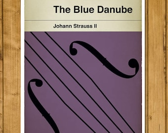 Johann Strauss II - The Blue Danube - Timeless Classic - Classical Music - Alternative Book Cover Poster (Various Sizes)