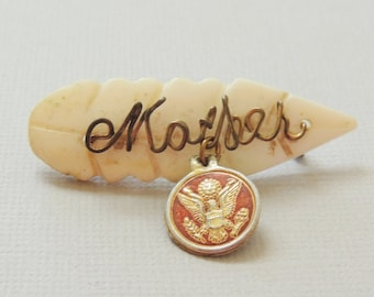 """WW2 """"MOTHER"""" Military Brooch"""