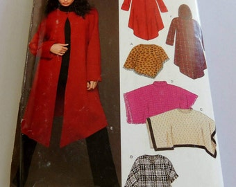New Look 6432 Poncho and Coat Xs to Xl Uncut