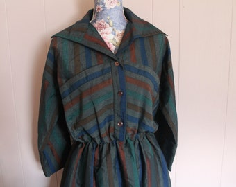 Vintage 80's Dolly Martin Striped Tea Dess