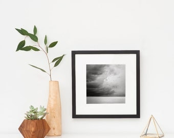 Framed Art, Ready To Hang, Living Room Wall Decor, Gift For Dad, Black and White Framed Photography, Coastal Wall Art