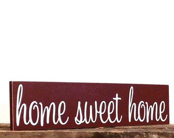 Home Sweet Home Sign, Rustic Home Decor, New Home Housewarming Gift, Wooden Signs For Home, Homestead Sign, Wood Signs, Home Sign Decor
