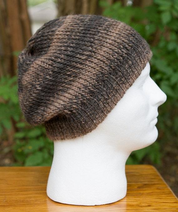 Unisex Alpaca and Merino Knit hat - Brown/Grey