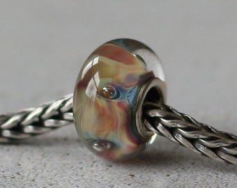 Silverglass  glass bead