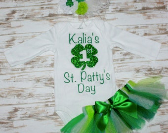Personalized St. Patty's Day Onesie- Saint Patrick's Day Outfit
