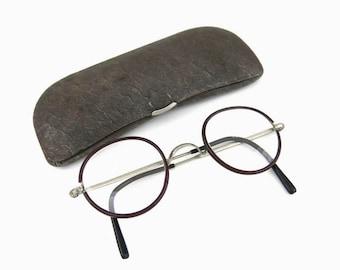 Vintage eyeglasses   Metal plastic coating   XS