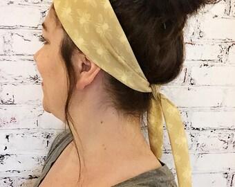 NEW! Tie-Back Headband - Honeybee - Yoga Headband - Boho Headband - Eco Friendly Fabric