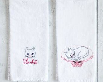flour sack towels - paris set 1