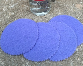 Laveder Round Felt Coasters, Wool Coasters, Simple Coasters, Coaster Set, Drink Coaster