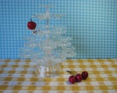 Mid Century Treat Tree by Jondell - Original Box - Clear Plastic Serving Piece - Daisy Delight - Dessert Stand  - Vintage 1960's