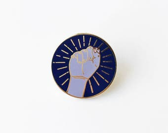 Resist Fist Enamel Pin   Benefitting the ACLU   Activist   Give Back   Civil Rights   Human Rights   Equality   Feminist